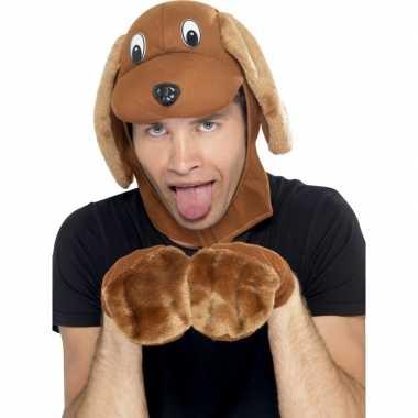 Hond verkleed setje voor volwassenen carnaval
