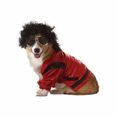 Honden kostuum michael jackson voor carnaval