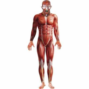 Horror body suit anatomische man voor carnaval