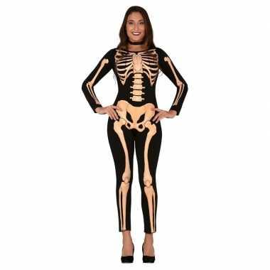 Horror skelet verkleed pak/kostuum voor dames carnaval