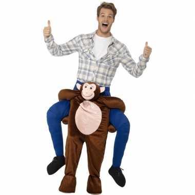 Instap dierenpak kostuum aap voor volwassenen carnaval