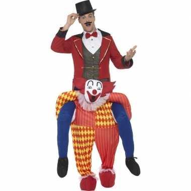 Instapkostuum circus clown voor volwassenen carnaval