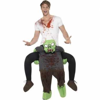 Instapkostuum zombie voor volwassenen carnaval