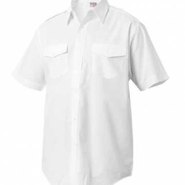 Kapitiens overhemd korte mouwen voor carnaval