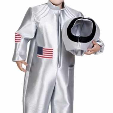 Kinder astronaut kostuum zilver voor carnaval