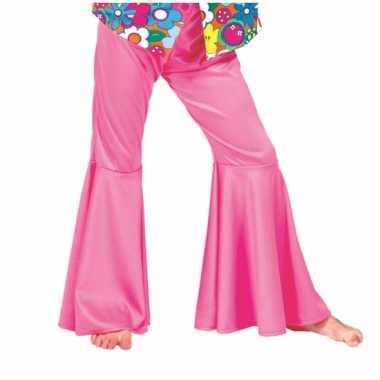 Kinder broek roze sixties voor carnaval