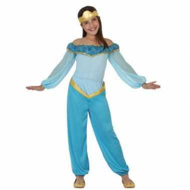 Kinderkostuum blauwe arabische prinses voor carnaval