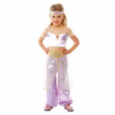 Kinderkostuum paars Arabische prinses voor carnaval