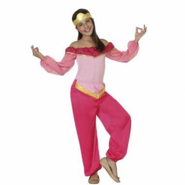 Kinderkostuum roze arabische prinses voor carnaval
