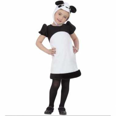 Kleuter panda jurkje voor carnaval