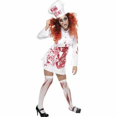 Kokkin kostuum met bloed voor carnaval