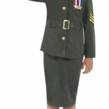 Leger uniform voor meisjes carnaval