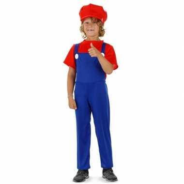 Loodgieter Mario verkleed pak rood voor jongens carnaval