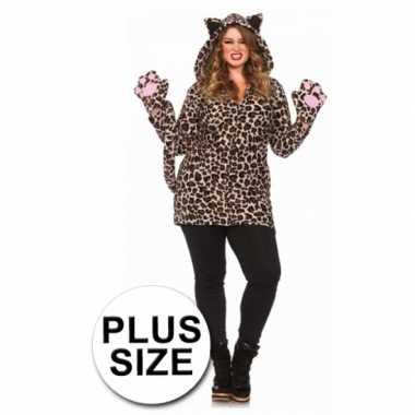 Luipaard jurk luipaardprint grote maten voor carnaval