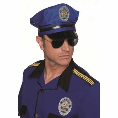 Luxe blauwe politiepetten voor carnaval