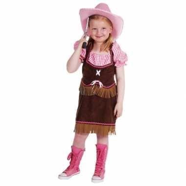 Luxe cowgirl carnavalskleding kind voor