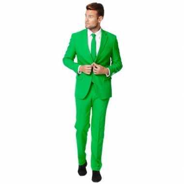 Luxe kostuum voor heren groen carnaval
