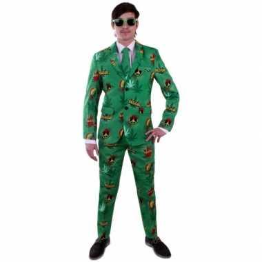 Luxe kostuum voor heren rasta carnaval