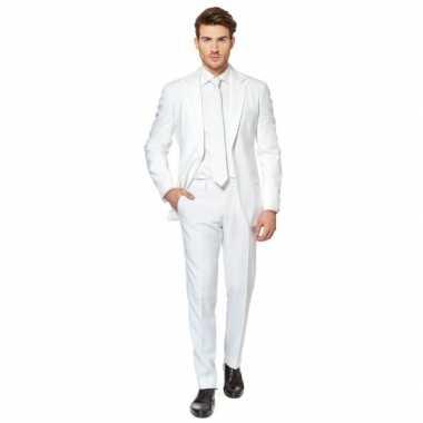 Luxe kostuum voor heren wit carnaval