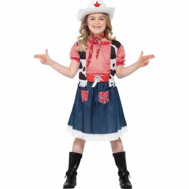 Meisjes carnavalskleding cowgirl voor