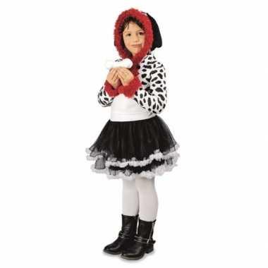Meisjes dalmatier hond kostuum voor carnaval