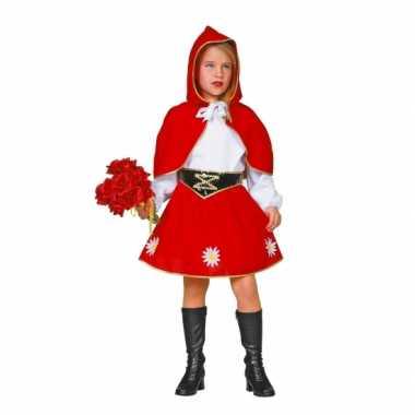 Meisjes Roodkapje carnavalskleding voor