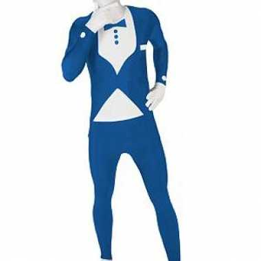 Morphsuit kostuum blauw pak voor carnaval