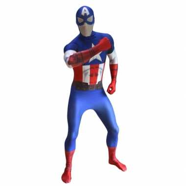 Morphsuit kostuum Captain America voor carnaval