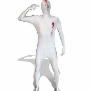 Morphsuit kostuum met shotwonden