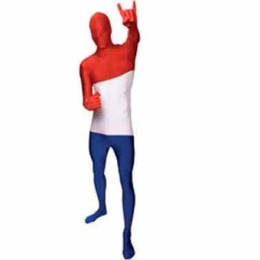 Morphsuit kostuum Nederlandse vlag voor carnaval