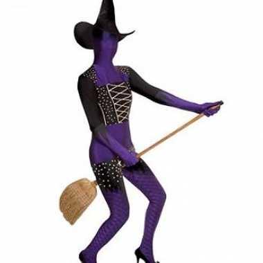 Morphsuit kostuum paarse heks