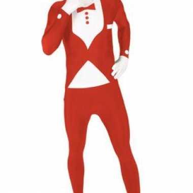 Morphsuit kostuum rood pak voor carnaval