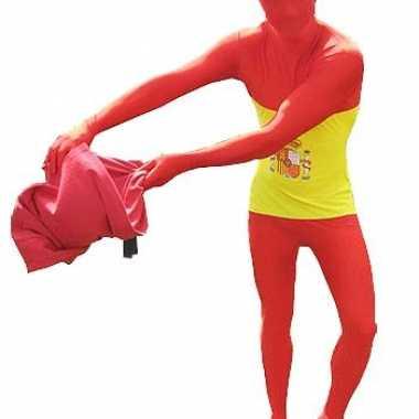 Morphsuit kostuum Spaanse vlag voor carnaval