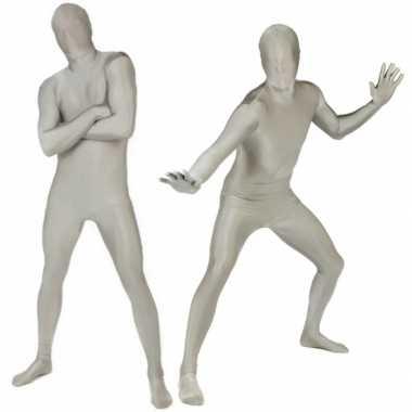 Morphsuit kostuum zilver voor carnaval