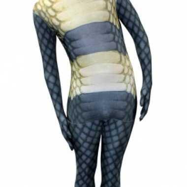 Morphsuit met cobra slangen print voor carnaval