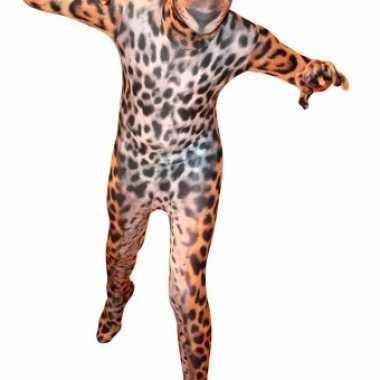 Morphsuit met luipaard print voor kids carnaval