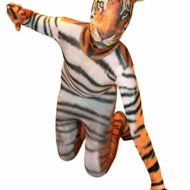 Morphsuit met tijger print voor kids carnaval