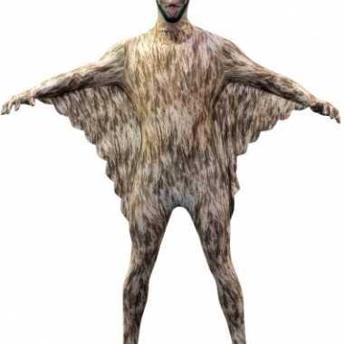 Morphsuit met vleermuizen print voor carnaval