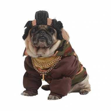 Mr. t kostuum voor honden carnaval