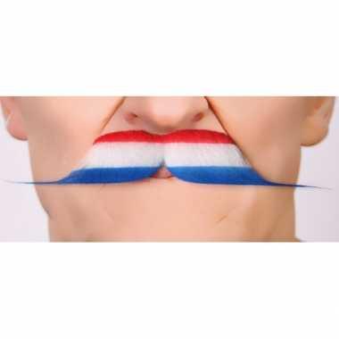 Nederlandse vlag verkleedkleding accessoire snor