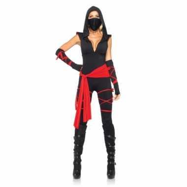 Ninja dames kostuum 5 delig voor carnaval