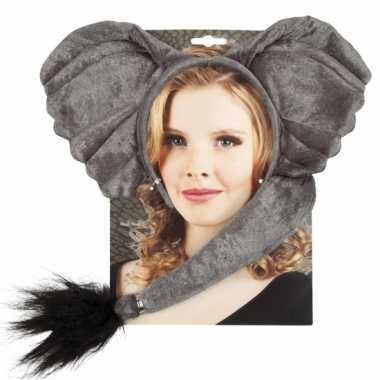 Olifant verkleed setje voor volwassenen carnaval