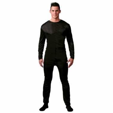 Onderkleding verkleed suit zwart voor mannen carnaval
