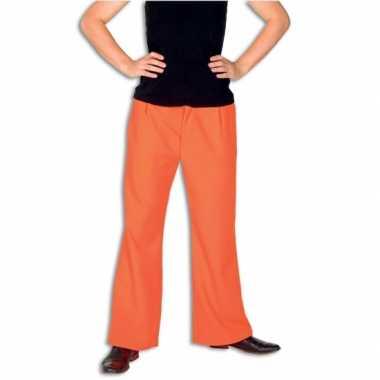 Oranje broek voor volwassenen carnaval