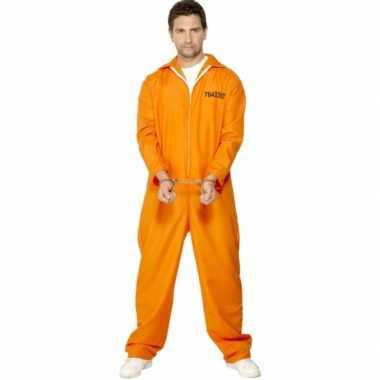 Oranje carnavalskleding boef heren voor