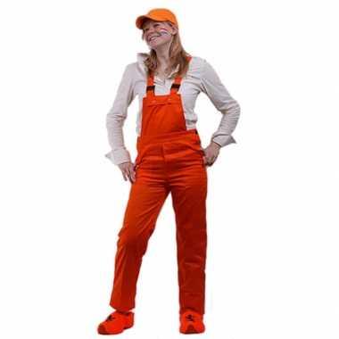 Oranje tuinbroek voor kids carnaval