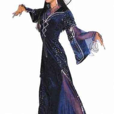 Paars heksenkostuum dames voor carnaval