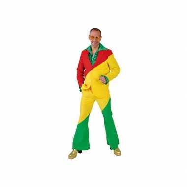 Pak rood/geel/groen voor volwassenen carnaval