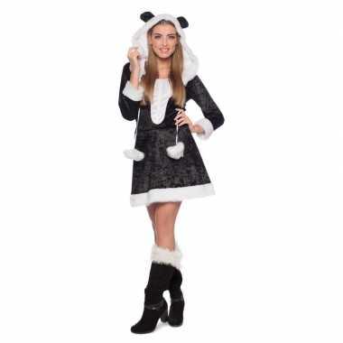 Panda dieren verkleedkleding voor dames carnaval