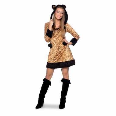 Panter dieren verkleedkleding voor dames carnaval